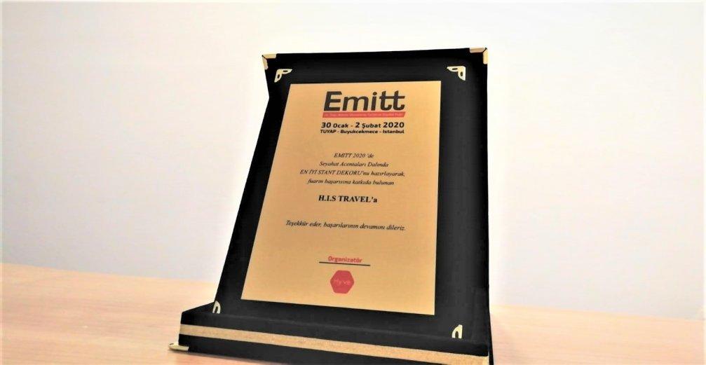 EMITT Fuarı En İyi Stant Dekoru Ödülü