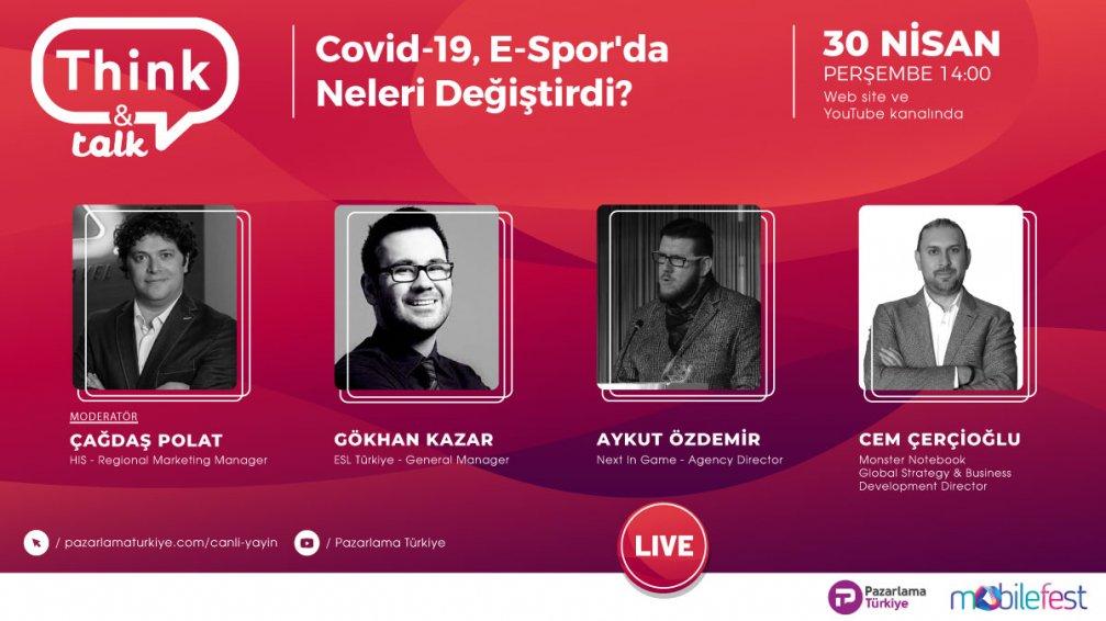 ''Covid-19, E-Spor'da Neleri Değiştirdi?'' İçerikli 4. Think & Talk Etkinliğinde Ön Plana Çıkan Başlıklar