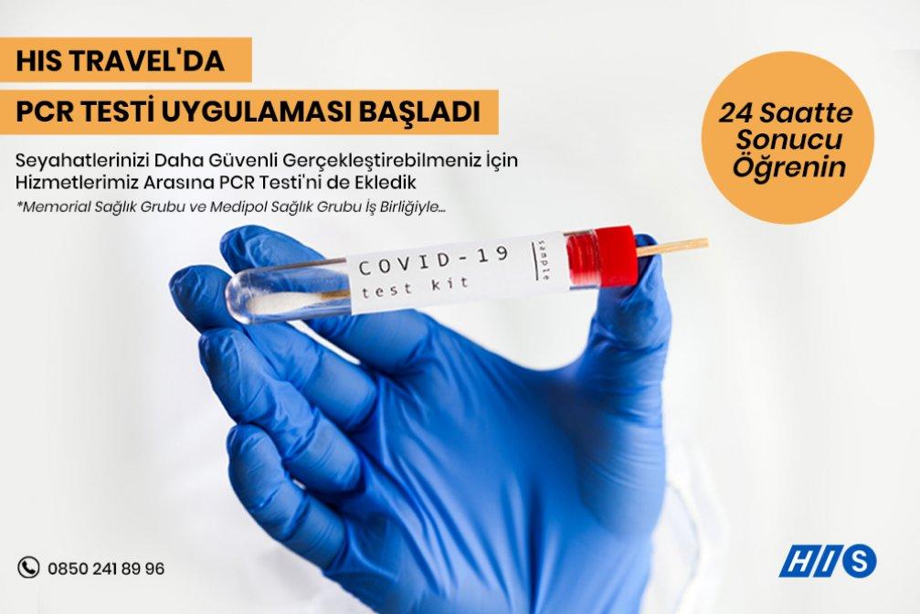 HIS Travel'da PCR Testi Uygulaması Başladı!