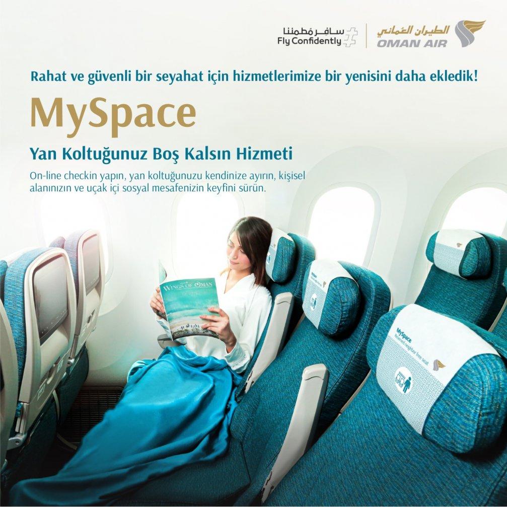 """Oman Air'den """"Yan Koltuğunuz Boş Kalsın"""" Hizmeti"""