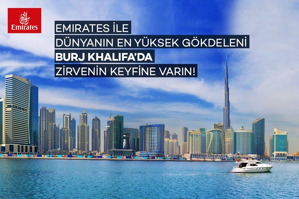 Emirates'ten Zirveye Çıkartan Kampanya: Burj Khalifa'ya Ücretsiz Giriş Bileti